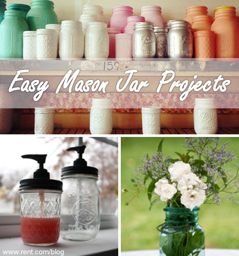 Diy Apartment Decor: 3 Easy Mason Jar Crafts
