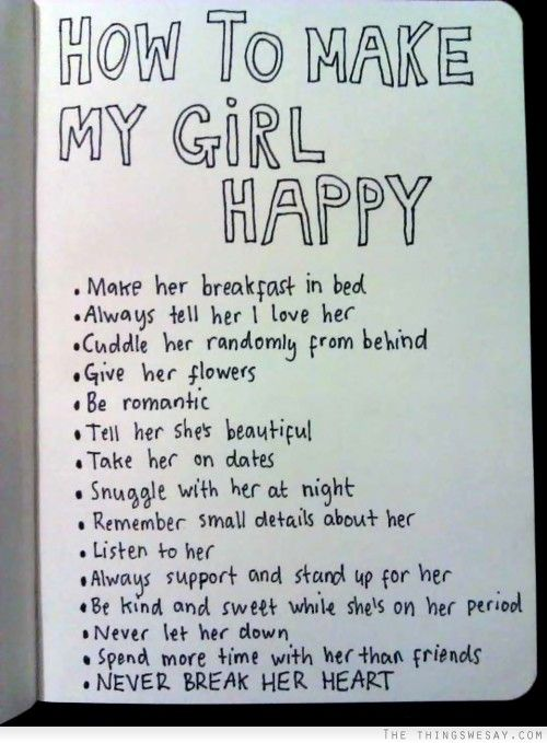 Things To Do To Make A Girl Happy