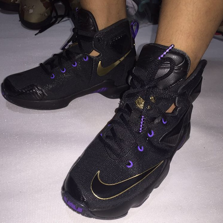 4cc12a44d78c29 LeBron 13 Black Purple Gold