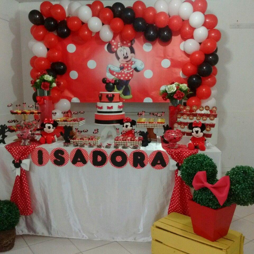 Decora O De Festa Tema Minnie Vermelha Decora Es Pinterest  ~ Cozinha Da Minnie De Verdade