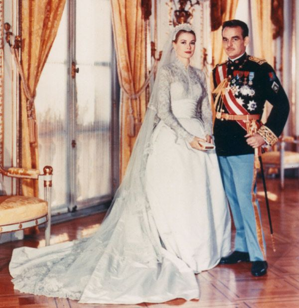 Ridiculously Expensive Wedding Dresses Grace Kelly The Stars Iconic 1956 Silk Dress Cost After Inflation Around 68000