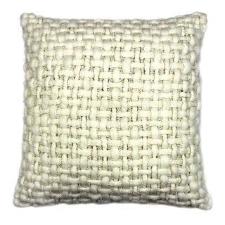 Online Shopping  Bedding Furniture Electronics Jewelry Clothing  more Aurelle Home Transitional Heavy Weave 20 inch Decorative Throw Pillow WhiteCotton Textured