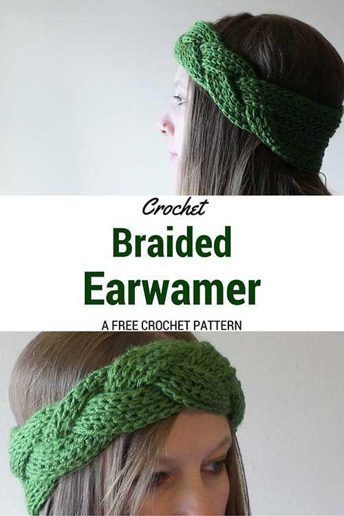 How To Crochet A Braided Headband and Earwarmer | Crochet / Macramé ...