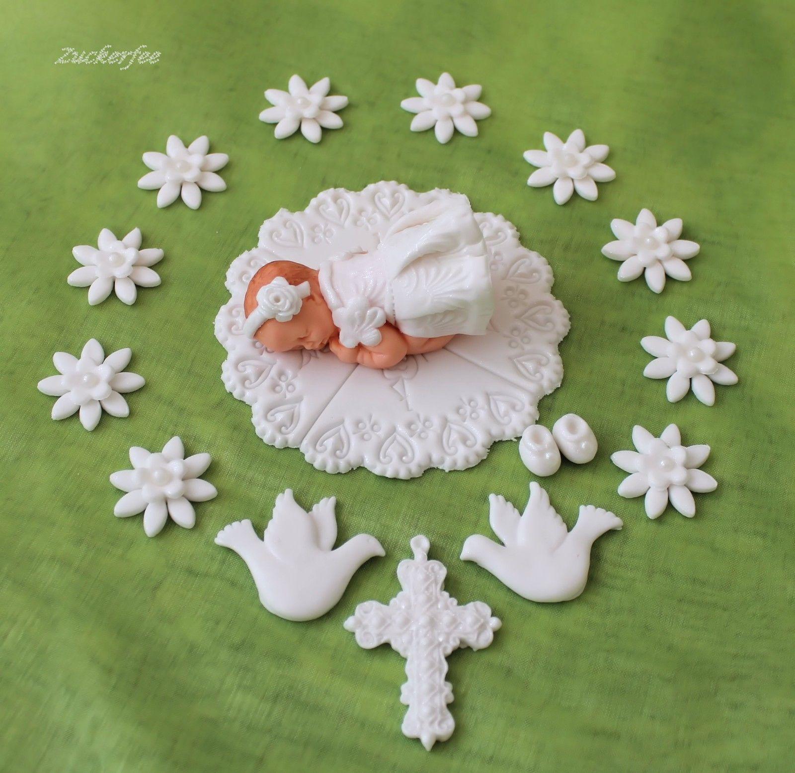 Dekoration Taufe Mädchen: Details Zu Tortendeko Fondant Zuckerdekor Zuckerfigur Baby