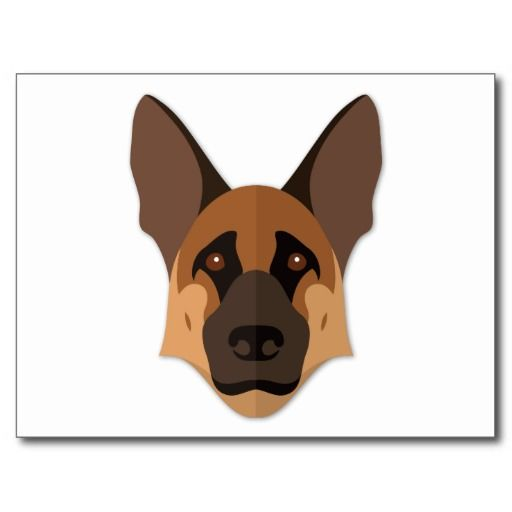 Cartoon German Shepherd Front Google Search Geometric Art