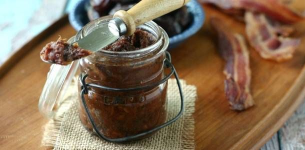 Medjool Date Bacon Jam. Paleo Bacon Jam with Medjool Dates from www.everydaymaven.com