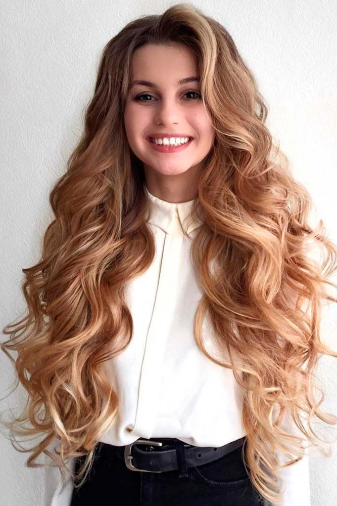 15 Elegant Prom Hairstyles Down | Long wavy hair, Easy hairstyles for long hair, Prom hair down