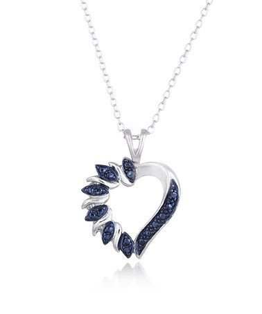 Look what i found on zulily blue diamond heart necklace blue diamond heart necklace zulilyfinds mozeypictures Image collections
