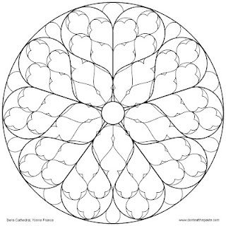 Sens Cathedral Rose Window To Color Mandala Coloring Pages Rose
