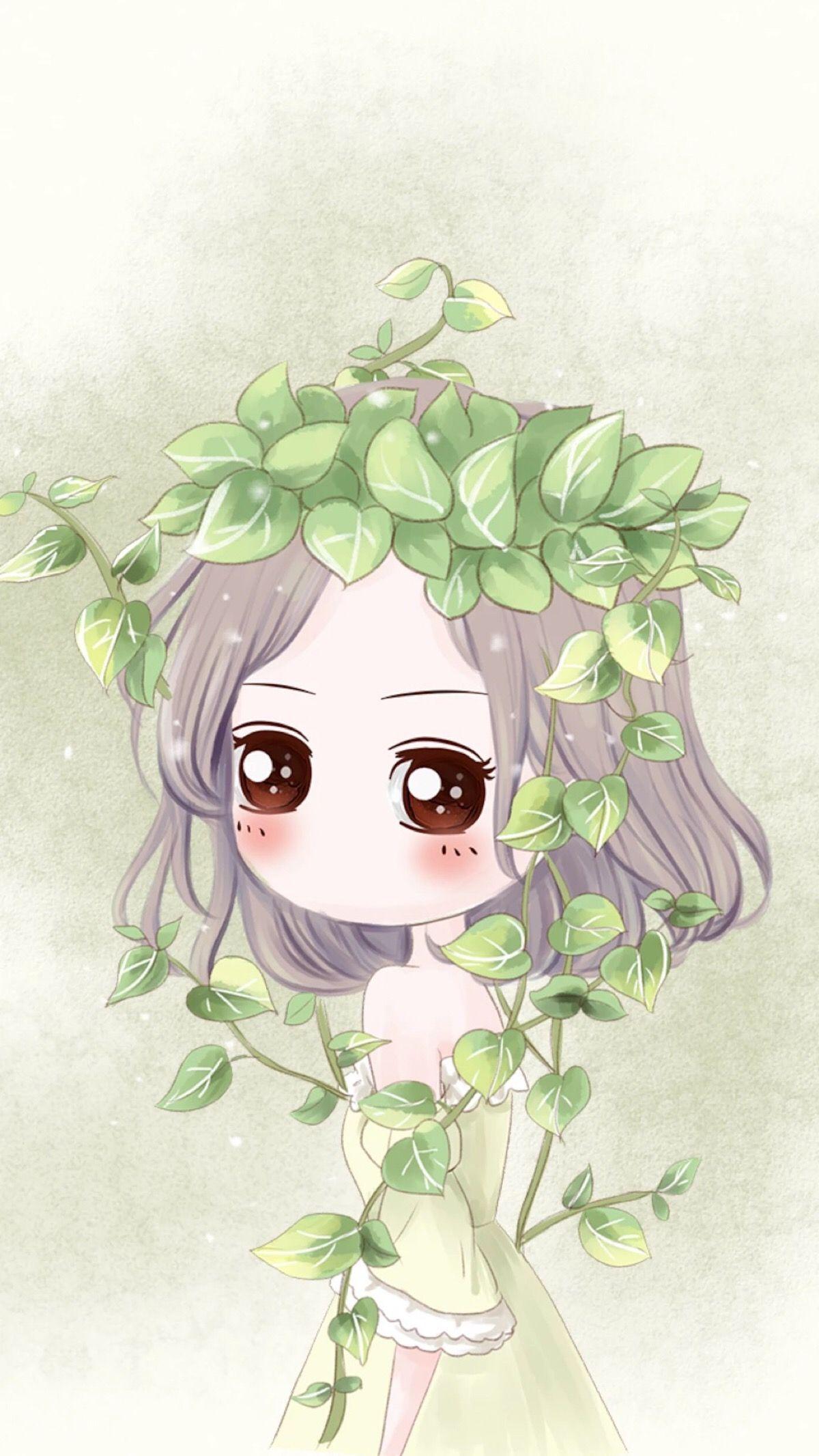 Kawaii Chibi Girl Anime Korean Cute Cartoon