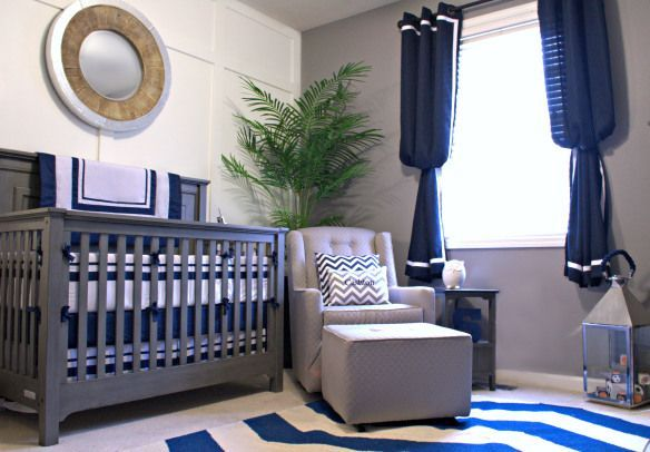 Best Navy And Grey Baby Boy Nursery Really Love The Masculine 640 x 480