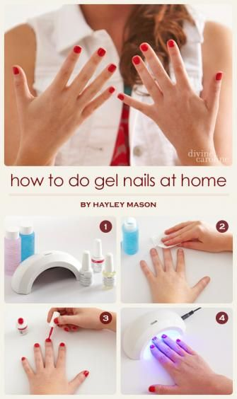 How to Do Gel Nails at Home | finding inspiration: things to make ...