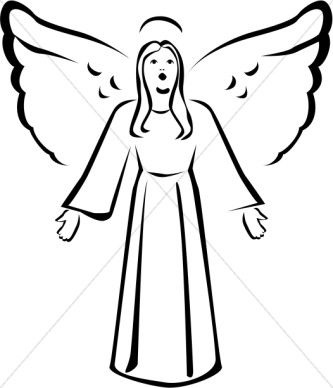 black and white singing angel clipart toni s angels and other rh pinterest com black and white baby angel clipart black angel clipart images