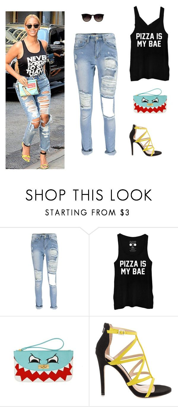 """""""Untitled #163"""" by alwateenhosam on Polyvore featuring Moschino Cheap & Chic, ALDO and Ray-Ban"""