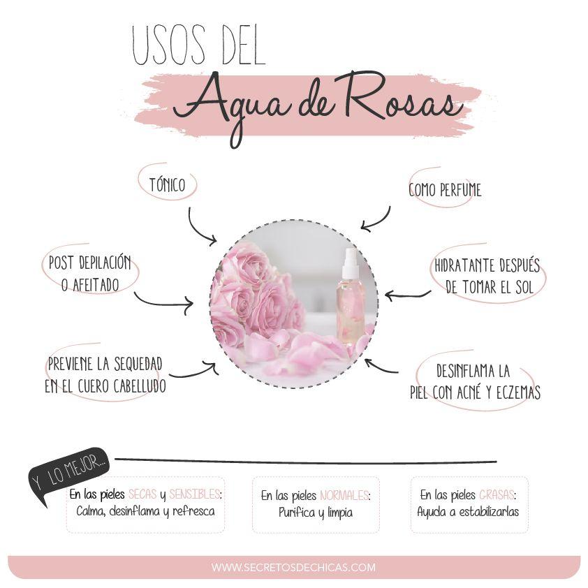 USOS DEL AGUA DE ROSAS | la belleza es natural | Pinterest