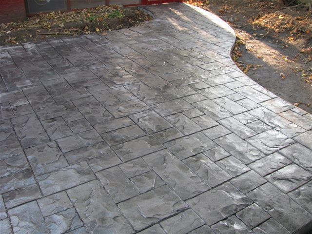 Stamp Concrete Without Color Stamped Concrete Concrete Decor