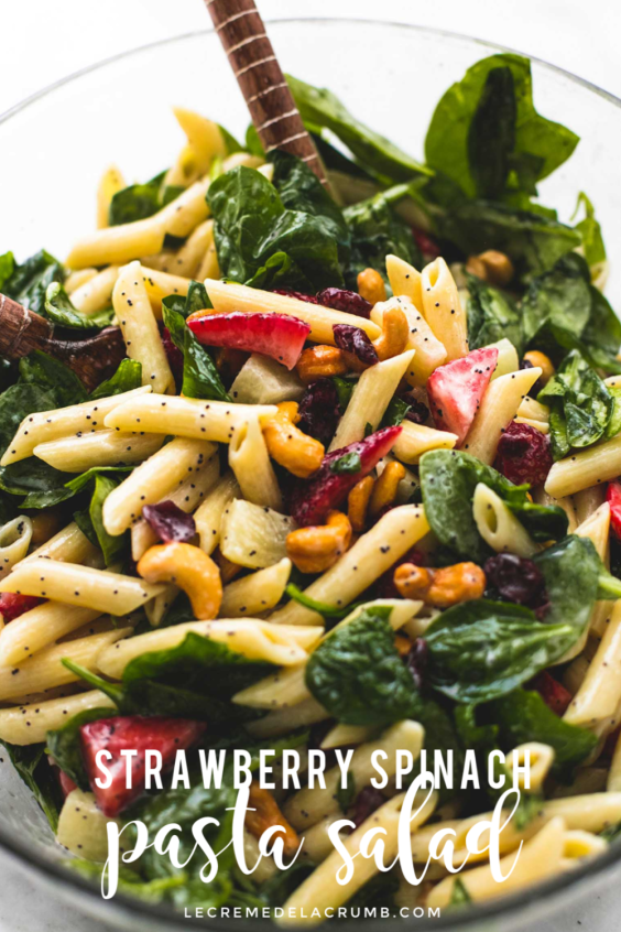 Strawberry Spinach Pasta Salad images