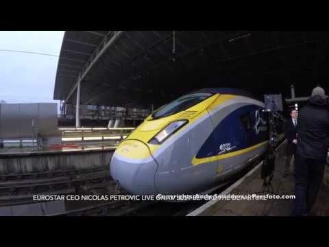 4k Film And View From The Operator Cabine Inaugural Eurostar Train