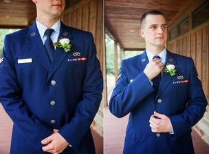 Our military Groom! At The Grove we offer a 10% discount to our brave soldiers! #Thankful #WeddingVenue #MilitaryWedding #MeggieBurrPhotography