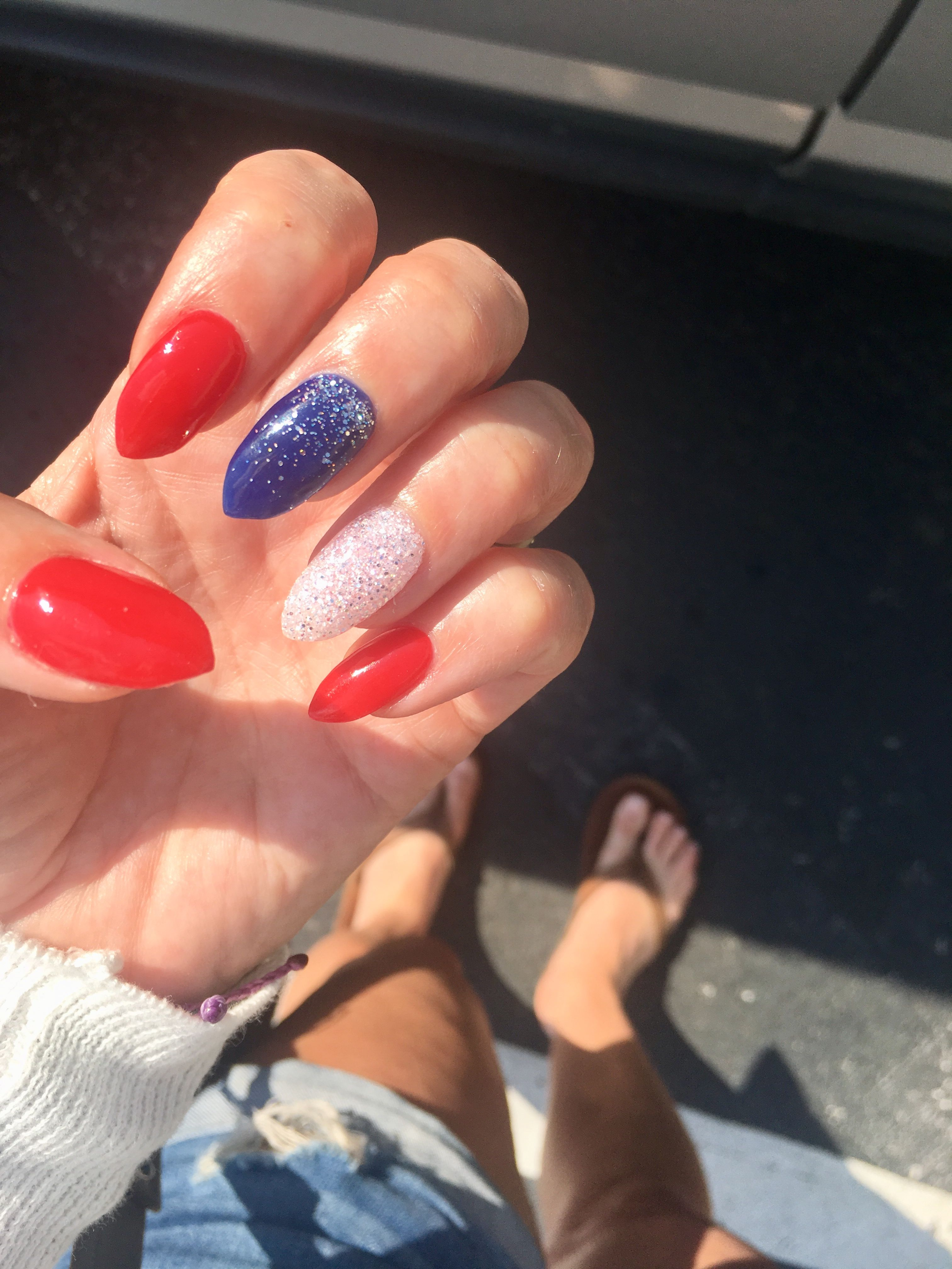 Red White And Blue Nails Red And White Nails Blue And White Nails Blue Acrylic Nails