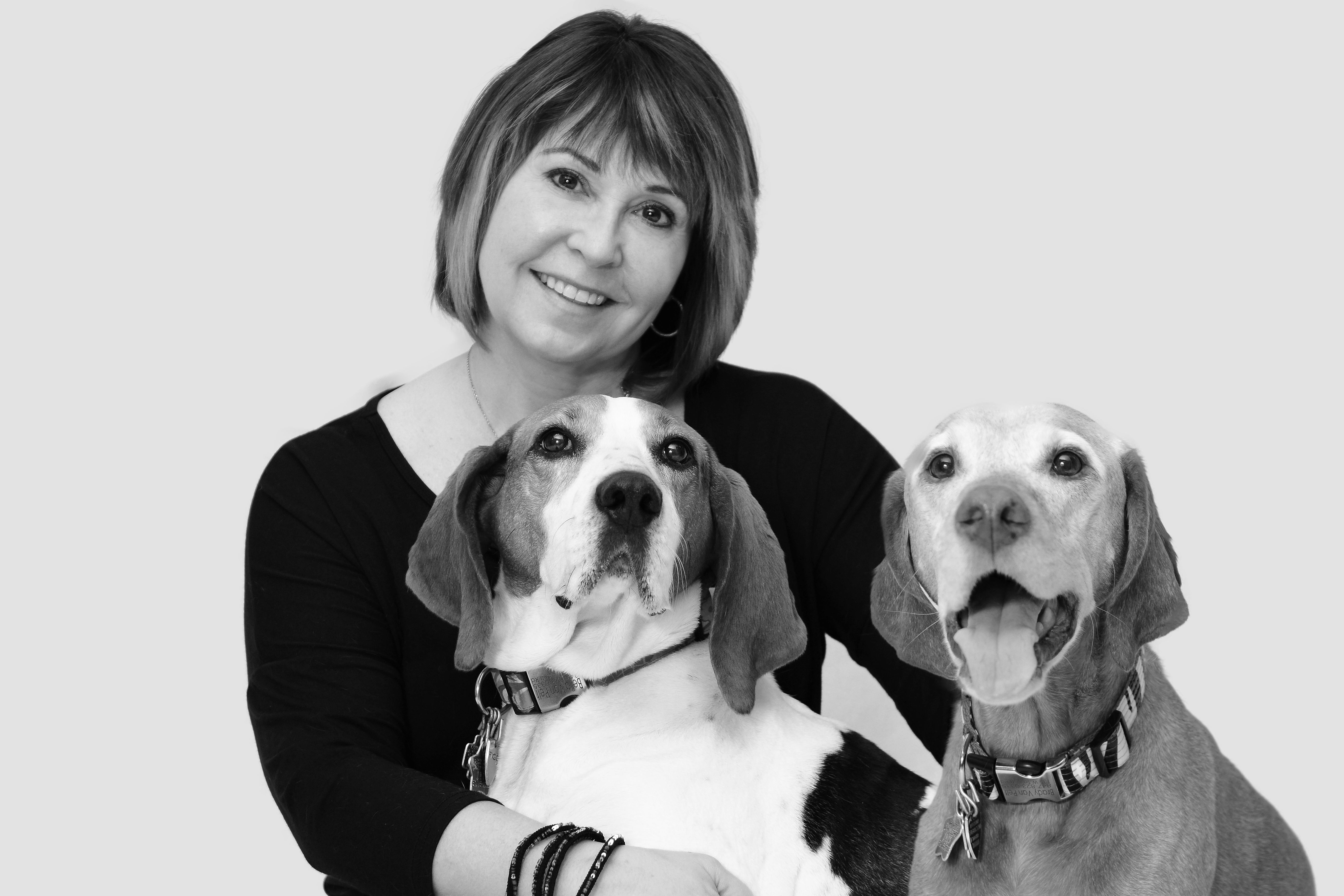 Rae Ann Van Pelt, DVM (pictured with Bella and Brady) Co
