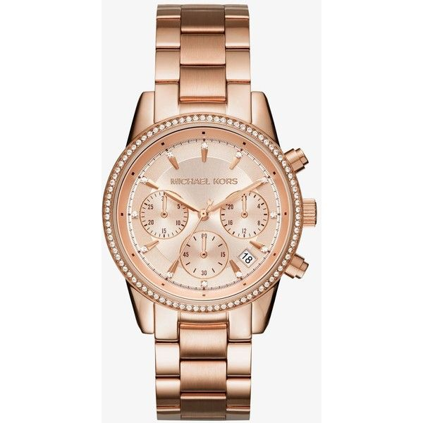Michael Kors Michael Kors Ritz Rose Gold Tone Watch 210 Liked On Polyvore Featuring Jewelry W Mit Bildern Damenuhren Michael Kors Uhr Michael Kors Damenuhr