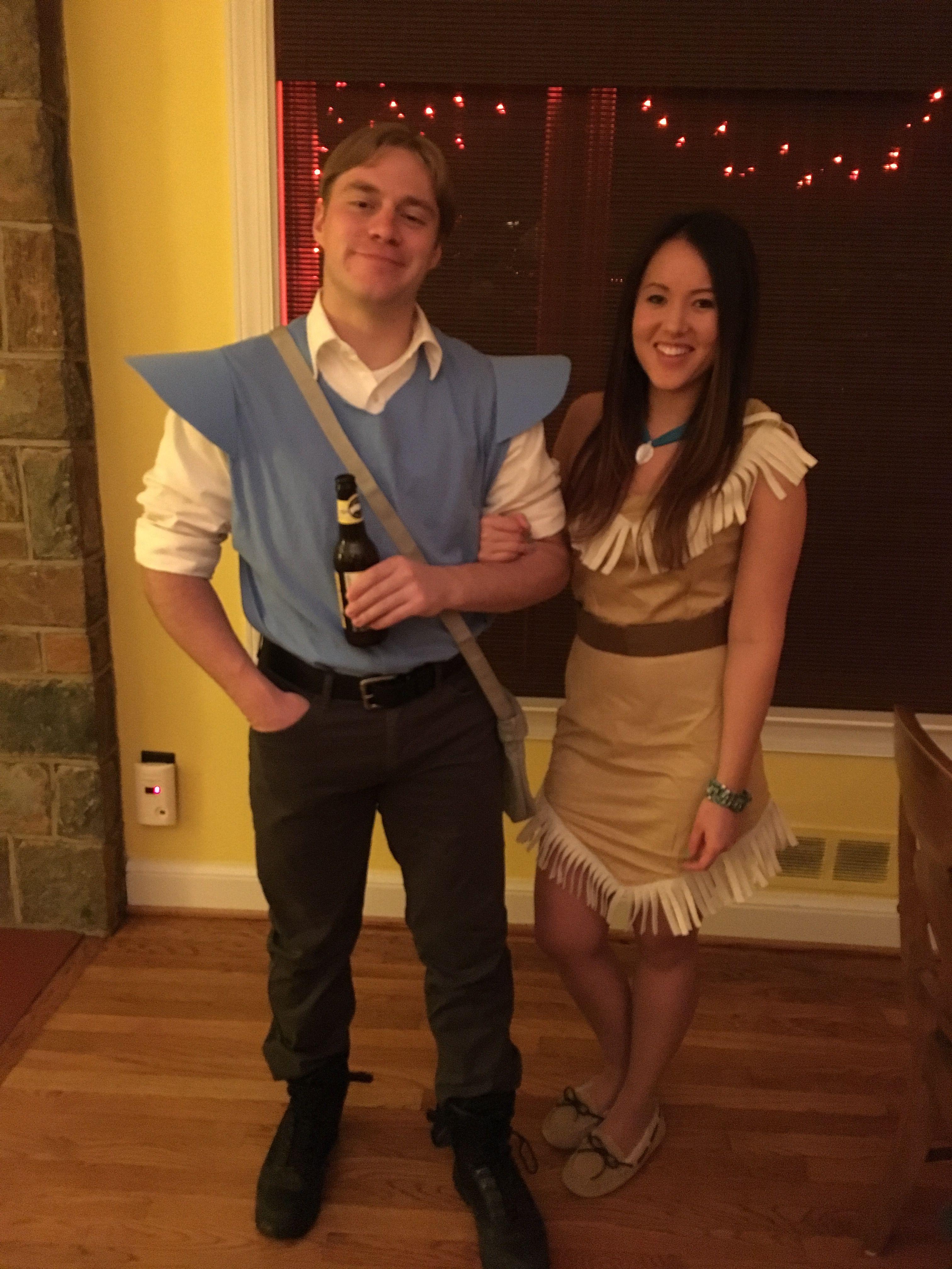 diy pocahontas john smith costume halloween couple ideas diy pocahontas johnsmith costume pocahontascostume diycostumes couplescostumes