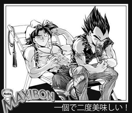Goku and Vegeta eating by RoninoZ on DeviantArt | DBZ MI VIDA ...