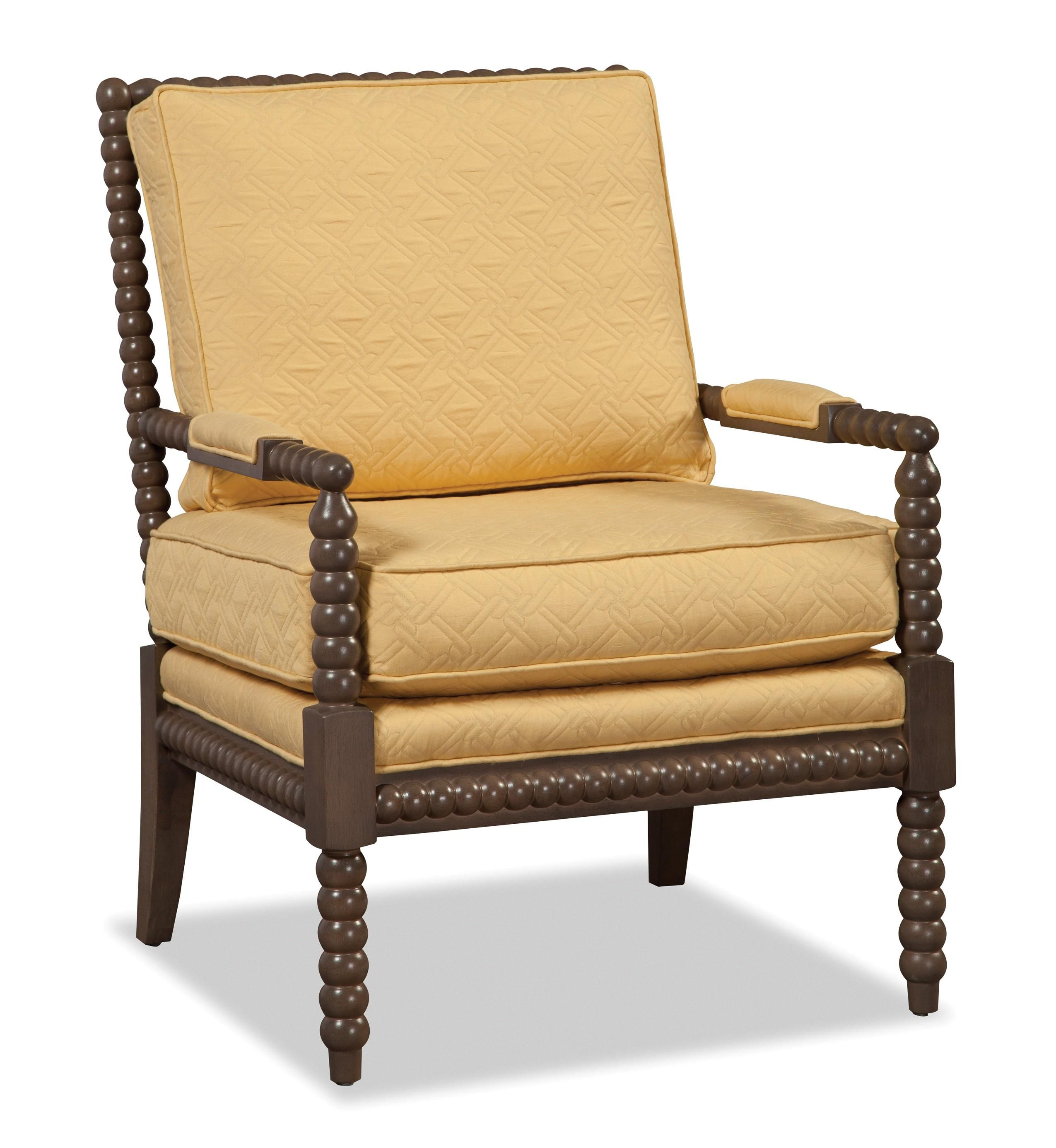 accent chairs exposed wood chair by craftmaster - Wood Frame Accent Chairs