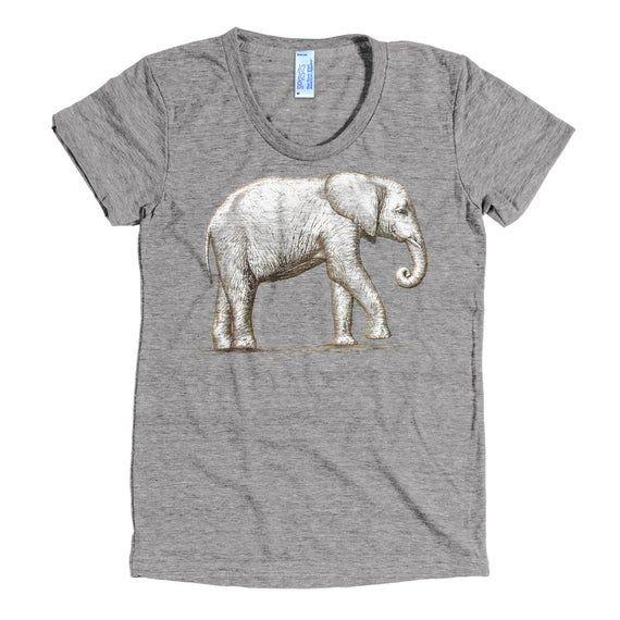 Elephant Sanctuary T Shirt - African Elephant Tee Shirt - Elephant Shirt - Women's American Apparel #afrikanischeskleid
