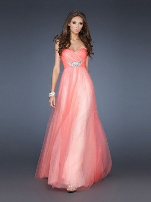 A-Line/Princess Sweetheart Floor-Length Elegant Tulle Dress | Formal ...