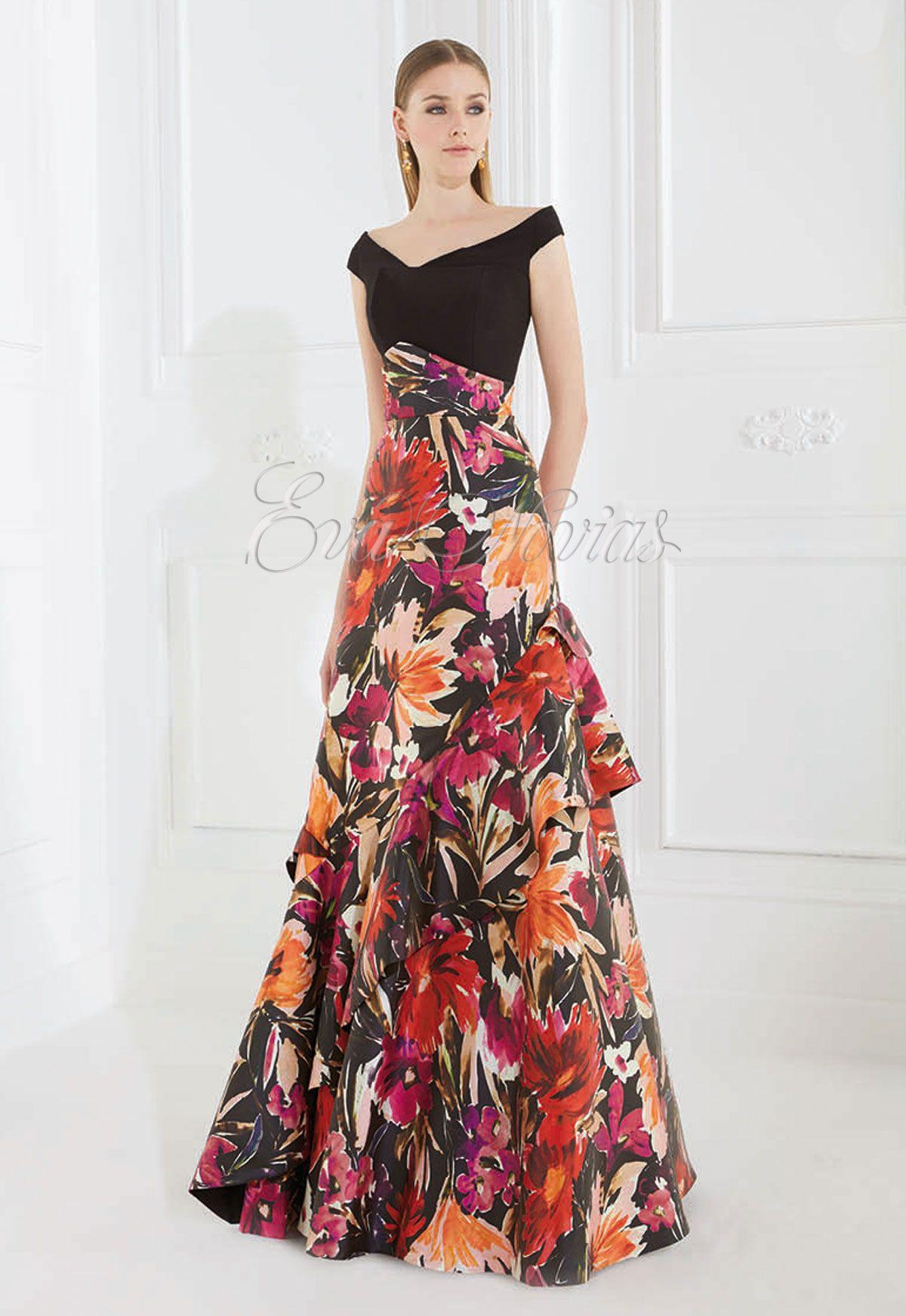 5462c01d9f Vestido de fiesta Patricia Avendaño 2016 Modelo 1985 en Eva Novias Madrid.   vestido  boda  invitada  modamujer  dress  fashion  madrina  estampados