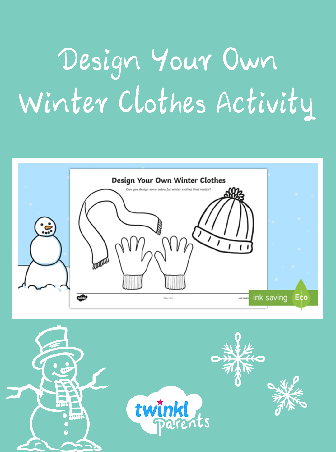 Design Your Own Winter Clothes Activity