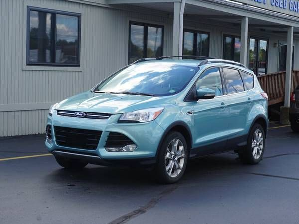 2013 Ford Escape Sel 4wd Suv Blue 4 Cylinder 4 4 Bad