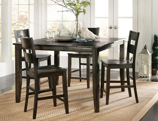 5pc Gathering Set Java Art Van Furniture Dining Table In Kitchen Dining Table Kitchen Dining Sets