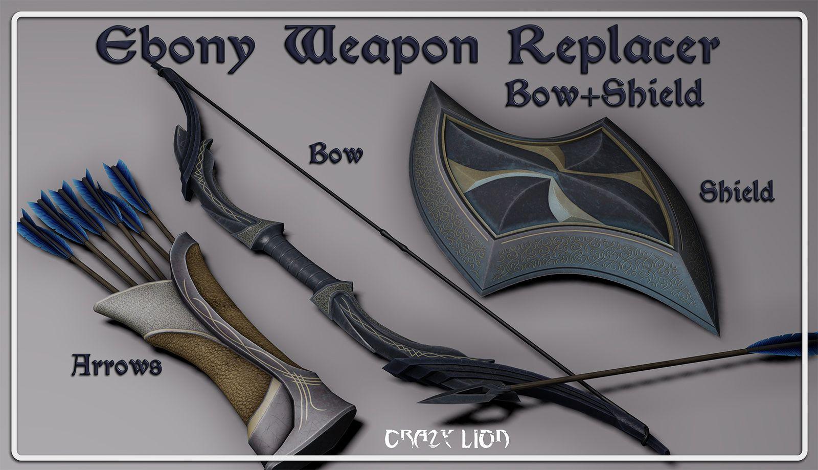 Ebony Weapon Replacer at Skyrim Nexus - mods and community | Fantasy
