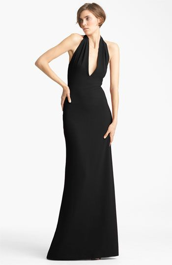 Yigal Azrouël Crepe Halter Gown available at #Nordstrom