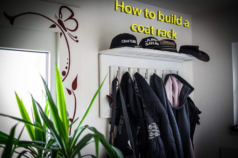 DIY Wall Coat Rack out of pallet wood wallcoatrack