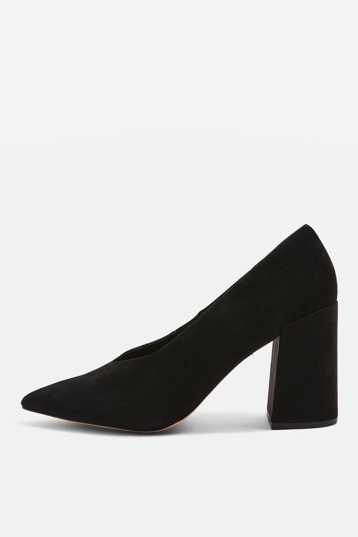 fdc2f8c4fa62 Gretal V-Cut Block Heels