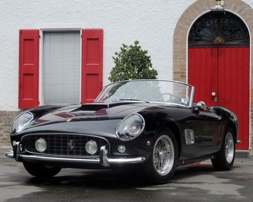 old school ferrari in black