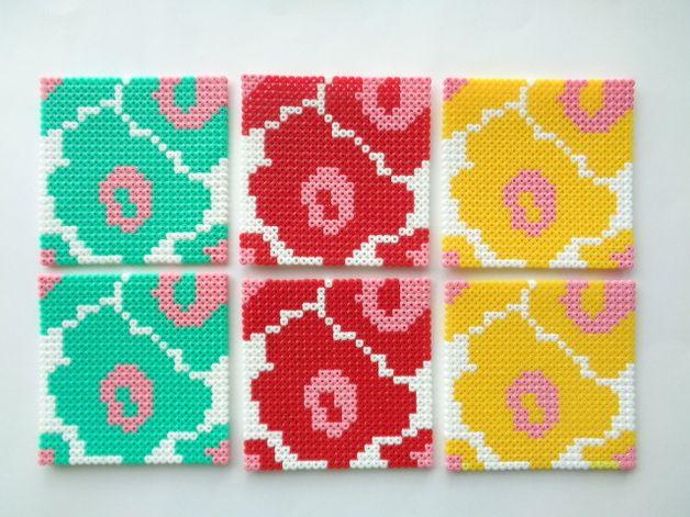 untersetzer untersetzer im 6er set ein designerst ck von handmadeblues bei basteln. Black Bedroom Furniture Sets. Home Design Ideas