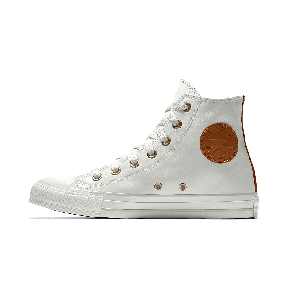 Converse Custom Chuck Taylor Premium Leather High Top Shoe Size 6 (Cream) e567a05bb