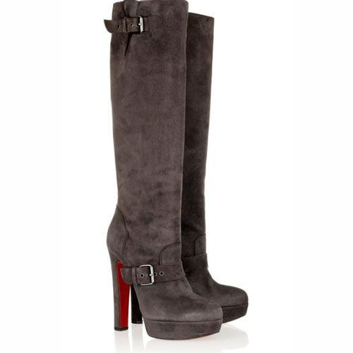 Noticeable & Discount Christian Louboutin Harletty 140mm Suede Knee Boots  Coffee Outlet | Christian Louboutin Suede