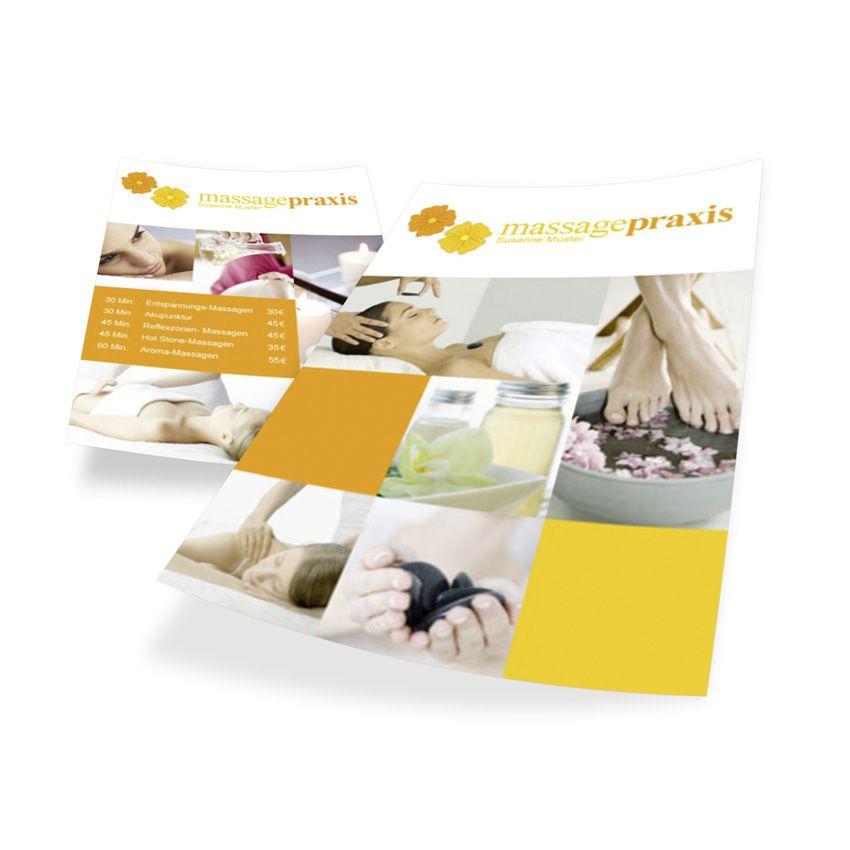 dienstleistungen flyer din a6 vorlage 3289 zum online. Black Bedroom Furniture Sets. Home Design Ideas