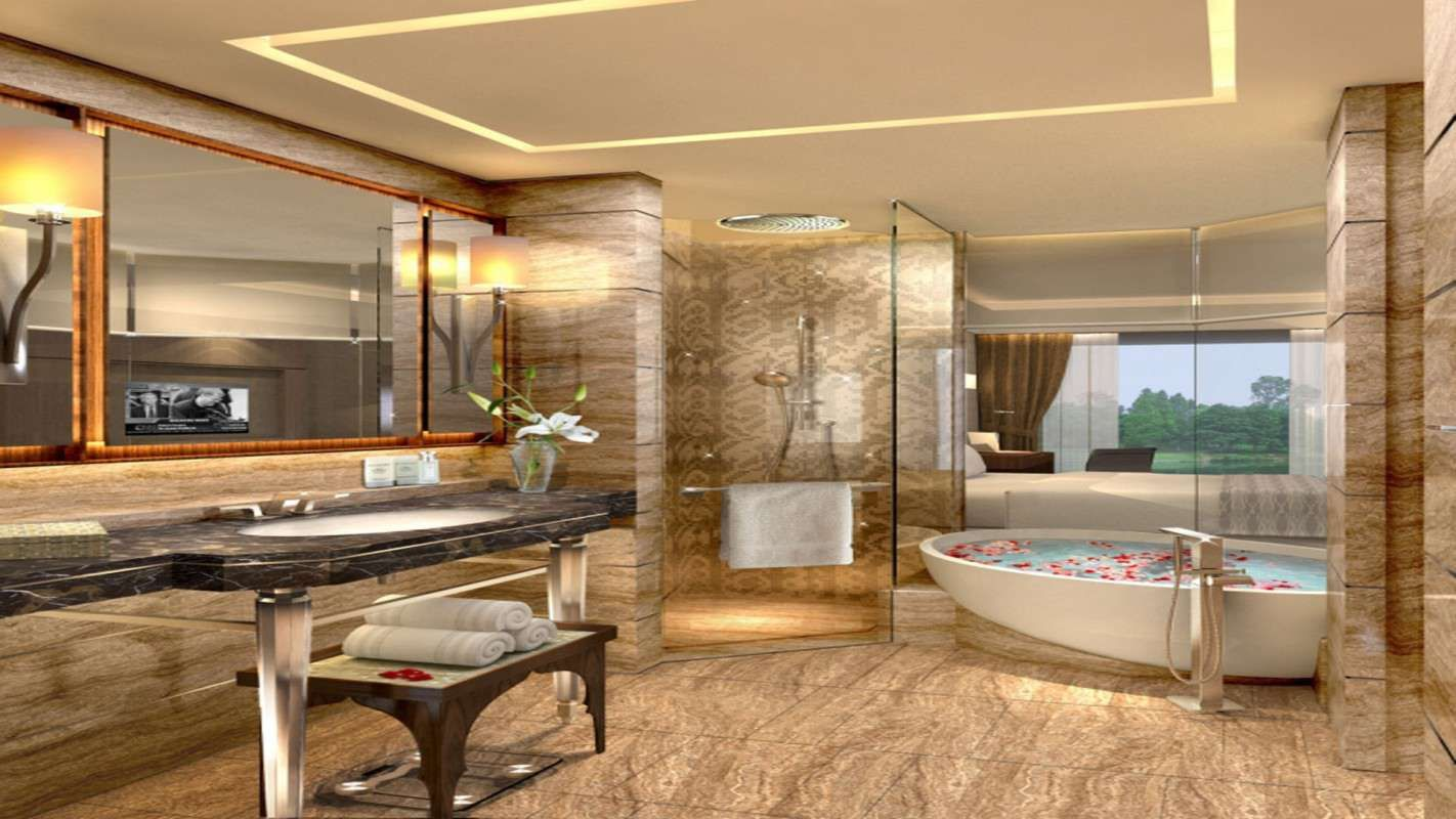 Luxury Bathrooms Hotels kempinski ambience delhi- ample open space is the biggest reason