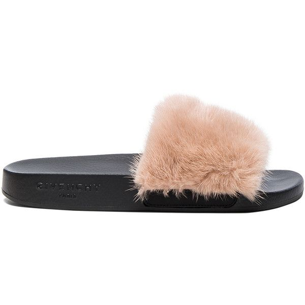 153a2dd174d9 Givenchy Mink Fur Slides ( 595) ❤ liked on Polyvore featuring shoes ...