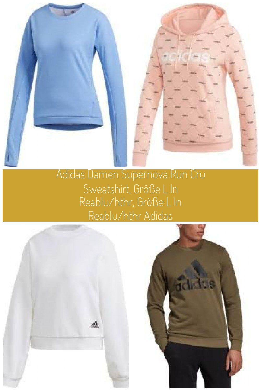 Dieses Sweatshirt Gibt Dir Mit Seinem Feuchtigkeitsableitenden Material Bei Deinen Lufen Ein Angenehm Trockenes Trage In 2020 Adidas Damen Damen Sweatshirts Sweatshirt