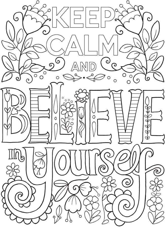 calming coloring pages for adults printable | Creative Haven Keep Calm and...Coloring Book @ Dover ...