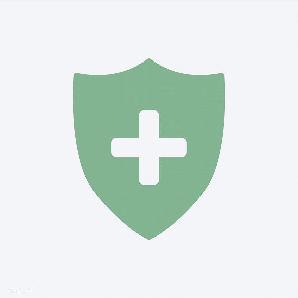 Isolated green medical insurance icon free image by