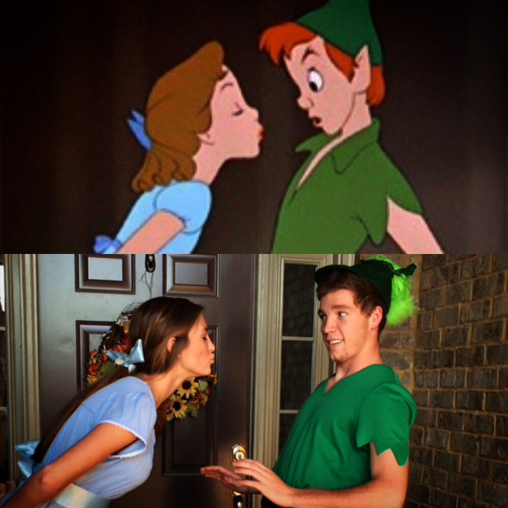 Peter Pan and Wendy costume #couples #combination #couplehalloweencostumes